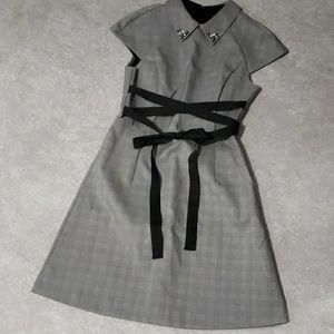 Zara Jewelry checked dresss